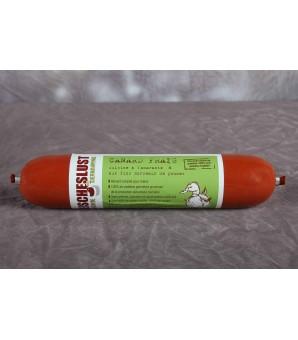 Canard frais cuisiné à l'amarante et aux fins morceaux de pommes : plus protéinés 400GR
