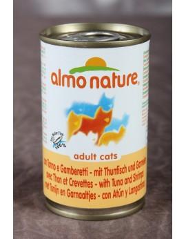 Almo nature chat avec thon et crevettes de 140 gr
