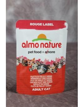 Almo Nature Label Rouge Filet de poulet et surimi 50 grs