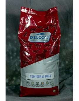 Croquettes pour vieux chien - DELCON SENIOR 15kg